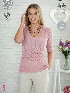 698c14d5d6174 Elegant lace top  knitting pattern for spring and summer