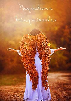 I just love this Autumn Angel. May the season bring you miracles <3  #Autumn #Angel #miracle