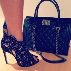Chanel bag with great heels