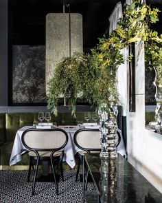 La Foret Noire Restaurant in Chaponost, France by Claude Cartier Studio Luxury Restaurant, Restaurant Interior Design, Commercial Interior Design, Best Interior Design, Cafe Restaurant, Commercial Interiors, Restaurant Interiors, Foyers, Hotels