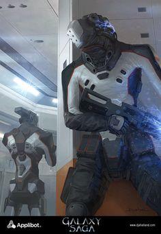 Galaxy Saga (applibot) Thunderbolt 13 advanced by djahal.deviantart.com on @DeviantArt