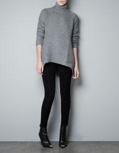 BACKLESS TURTLE NECK SWEATER - Knitwear - Woman - ZARA United States