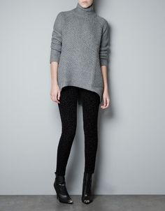 BACKLESS TURTLE NECK SWEATER - Knitwear - Woman - ZARA