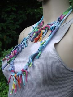 Tie Dye Necklace  Infinity  Scarf Recycled by ourchildrensearth, $15.00