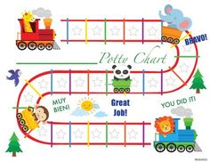 Having trouble potty training? This choo choo potty training chart will help your little Toddler Sticker Chart, Sticker Chart Printable, Potty Training Sticker Chart, Toddler Chart, Potty Training Rewards, Potty Training Boys, Reward Sticker Chart, Printable Reward Charts, Rewards Chart