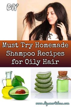 Must Try Amazing Homemade Shampoo Recipes for Oily Hair These homemade shampoos contain natural properties that able to improve your scalp condition and treat the oily hair problem, MUST TRY! Diy Hair Shampoo, Natural Hair Shampoo, Organic Shampoo, Drugstore Shampoo, Drugstore Beauty, Homemade Shampoo Recipes, Home Remedies For Hair, Best Shampoos, Oily Hair