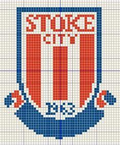 Buzy Bobbins: Stoke city logo cross stitch design Cross Stitch Charts, Cross Stitch Designs, Cross Stitch Embroidery, Cross Stitch Patterns, England Football Badge, City Logo, Stoke City, Badge Logo, Pixel Art