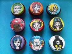 one piece anime character cupcake