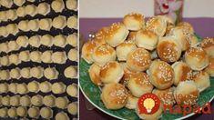 100 kusov za 20 minút: Mini pagáčiky plnené šunkou a syrom   perfektná finta, ako naplniť všetky naraz! Kefir, Finger Food, Doughnut, Sushi, Muffin, Food And Drink, Appetizers, Bread, Cheese