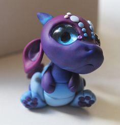 Big Eyed Baby Blue Dragon by BittyBiteyOnes on Etsy