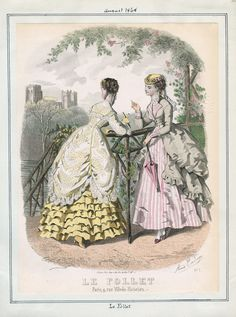 Casey Fashion Plates Detail | Los Angeles Public Library Le Follet Date:  Saturday, August 1, 1868