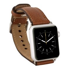 Genuine Soft Leather Band for Apple Watch 42mm in Floater Tan - Burkleycase