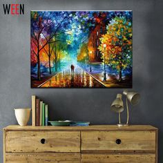 Cheap canvas art, Buy Quality painting by numbers directly from China painting numbers Suppliers: WEEN Rural Landscape Painting by Number DIY Oil Paint Canvas Art Lovers Walks In the Street Oil Painting Home Decor Gift Castle Painting, Diy Painting, Paint By Number Diy, Paint Prices, Ocean Scenes, Shops, Arts And Crafts Supplies, Texture Art, Rue