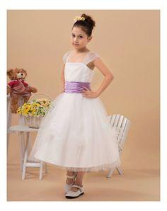 13a0972903d9 Eleganti Applicazioni Abiti Per Bambina in Ventita Online Tulle Flower  Girl
