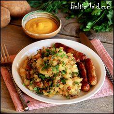 German Warm Potato Salad - Warmer Kartoffelsalat #glutenfree