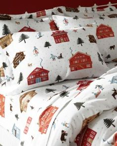 Nordic Village Flannel Bedding. I love these! So cute & cozy!