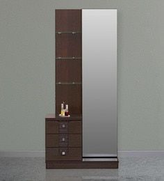 Triumph Dresser With Mirror in Dark Walnut Colour