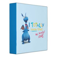 Stuffy - I Totally Knew that Binders may be personalized for photo scrapbooks, school, etc.