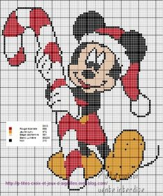 Hama Beads, Cross Stitch Cards, Mickey Mouse, Christmas Cross, Le Point, Comic, Plastic Canvas, Handmade Crafts, Beading Patterns
