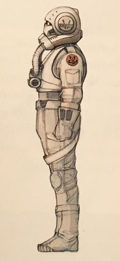 "Concept art of a Clone Trooper Pilot from ""Star Wars Episode III: Revenge of the Sith"" (2005)."