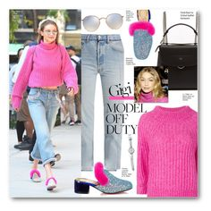 """Model off duty Gigi Hadid"" by voguefashion101 ❤ liked on Polyvore featuring Fendi, Vetements, Ray-Ban, Christian Louboutin and 3.1 Phillip Lim"