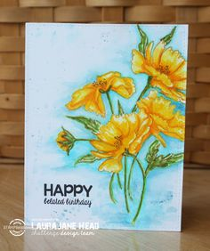 Blooming buds: Artplorations, ZIG  Clean Color Real Brush markers and Distress ink Markers
