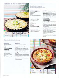 Revista bimby 2011.07 n08 Quiches, Pie Recipes, Recipies, Healthy Recipes, What To Cook, Food To Make, Cheese, Food And Drink, What's Cooking