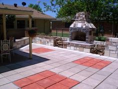 This Homeowner Used 18x18 Inch Castle Stone Molds To Make Their Patio Pavers,  And Other Sizes To Make The Fireplace, Counters, And Storage Space For  Their ...