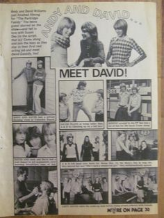 Andy and David Williams, Full Page Vintage Clipping