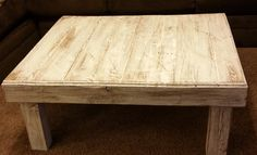 Rustic Style Coffee table with distressed finish by AveryStDesignCo on Etsy