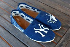 New York Yankees TOMS by BStreetShoes @kaylea2014