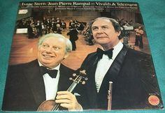 Isaac Stern / Jean-Pierre Rampal Play Vivaldi & Telemann Jerusalem Music Center Chamber Orchestra Vintage Vinyl 1978 Columbia Masterworks LP - This classic and highly sought-after stereo recording is still in its shrink-wrap and practically brand new considering that it is over 35 years old.