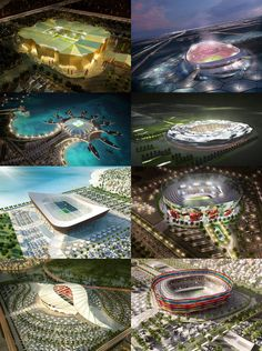 Planned stadiums for FIFA World Cup 2022 in Qatar. Planned stadiums for FIFA World Cup 2022 in Qatar.