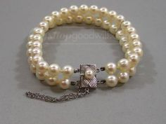 Vintage Mikimoto Akoya Pearl Bracelet w/53 Pearls