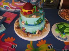 First Birthday Ocean Under Water themed birthday! A friend of mine Megan made this cake for my little guys birthday and the sea turtle was his smash cake! All decorations came from the luau section a the dollar tree.It was a blast!