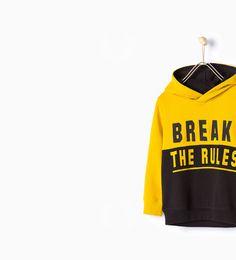 """"""" break the rules"""" print hooded sweatshirt"""