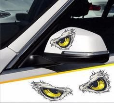 3D Cat eye car sticker