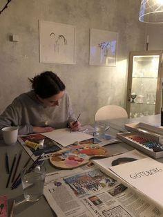 girl, photography e art imagem no We Heart It – People Photography Dream Life, My Dream, Artist Aesthetic, Aesthetic Painting, Arte Sketchbook, Art Hoe, Photo Instagram, Art Inspo, Pin Up