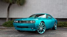 2010 Dodge Challenger in House of Kolor Candy Teal with 26-inch #Forgiato wheels