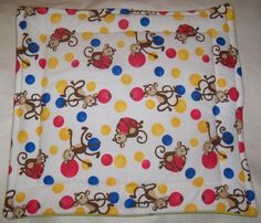 "Monkey Fleece Guinea Pig Lap Pad Bed Rabbit Ferret Hedgehog Rat 16"" x 16''"