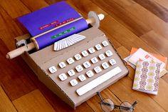 Kids cardboard typewriter