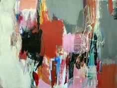"""Saatchi Art Artist Julie Schumer; Painting, """"Gray Landscape with Orange II"""" #art"""