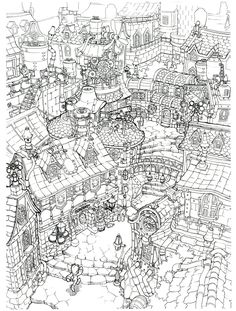 Lindblum_Industrial_District_Entrance_FF9_Art.jpg (1410×1862)