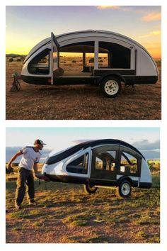 The Lightest Teardrop Trailer: Also the Most Expensive - camping Small Camper Trailers, Diy Camper Trailer, Tiny Camper, Small Trailer, Small Campers, Camping Trailer Diy, Camping Hacks, Pod Camper, Camping Supplies