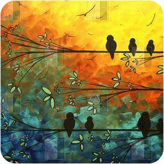Madart Inc. Birds Of A Feather Wall Art