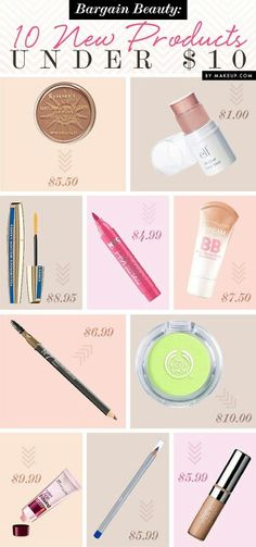 Great make-up finds under $10.00! They actually work to.