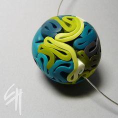 Polymer Clay Beads | Polymer Clay Beads / Maxi Bead by E.H.design
