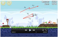 Angry birds to teach projectile motion