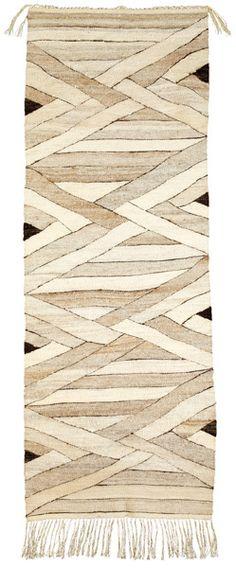 Interweave White, Original Tapestry by Rachel Brown, all natural handspun Churro wool, 72″ x 20″, 1984  http://weavingsouthwest.wordpress.com/