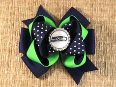 Seattle Seahawks Seattle Seahawks Hair Bows by MommysBowCreations, $7.00